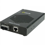 S-1110P-S2SC40 Media Converter - 1x PoE (RJ-45) Ports - 1 x SC Ports - 1000Base-EX 10/100/1000Base-T - Rack-mountable Rail-mountable Wall Mountable