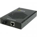 S-1110P-S1SC40U Media Converter - 1x PoE (RJ-45) Ports - 1 x SC Ports - 1000Base-BX-U 10/100/1000Base-T - Rack-mountable Rail-mountable Wall Mountable