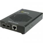 S-1110PP-DSFP Media Converter - 1x PoE+ (RJ-45) Ports - 1000Base-X 10/100/1000Base-T - 2 x Expansion Slots - 2 x SFP Slots - Rail-mountable Rack-mountable Wall Mountable