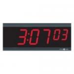 TimeTrax Sync 2.5in x 6 Digit Red LED Power Over Ethernet Digital Wall Clock - Digital