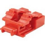 Adapter Blockout Devices - Jack module blockout - red