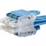 QuickNet - Patch cable - RJ-45 (M) plug pack to RJ-45 (M) - 7 ft - STP - CAT 6a - halogen-free - blue