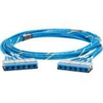 QuickNet Pre-Terminated Cable Assembly - Network cable - RJ-45 (F) cassette to RJ-45 (F) cassette - 25 ft - UTP - CAT 6a - IEEE 802.3an - plenum - blue