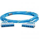 QuickNet Pre-Terminated Cable Assembly - Network cable - RJ-45 (F) cassette to RJ-45 (F) cassette - 27 ft - UTP - CAT 6a - IEEE 802.3an - plenum - blue