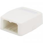MINI-COM - Surface mount box - arctic white - 2 ports