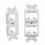MINI-COM 106 Duplex Module Frame - Faceplate jack holder - electric ivory - 4 ports