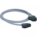Data-Patch 10/100/1000BASE-T Cable Assembly - Patch cable - RJ-21 (M) straight to RJ-21 (M) right-angled - 6 ft - UTP - CAT 5e - solid - gray