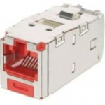 CAT6 8POSITION 8WIRE RED KEYED DIRECT SHIP INCREMENTAL OF 1