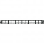 MINI-COM High Density Modular - Patch panel - black - 1U - 19 inch /23 inch - 48 ports