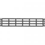 MINI-COM High Density Modular - Patch panel - 2U - 19 inch - 72 ports