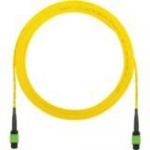 QuickNet MPO Interconnect Round Cable Assemblies - Network cable - MPO single-mode (F) to MPO single-mode (F) - 10 m - fiber optic - 9 / 125 micron - OS1/OS2 - halogen-free - yellow