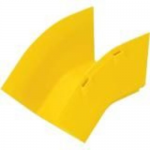 FiberRunner 4x4 System Fittings - Cable raceway outside elbow fitting - yellow