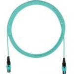 QuickNet PanMPO Round Interconnect Cable Assemblies - Network cable - PanMPO multi-mode (F) to PanMPO multi-mode (F) - 2 m - fiber optic - 50 / 125 micron - OM3 - halogen-free - aqua