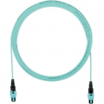 QuickNet - Network cable - PanMPO multi-mode (F) to PanMPO multi-mode (F) - 3.35 m - fiber optic - 50 / 125 micron - OM3 - indoor plenum round - aqua