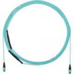QuickNet PanMPO Small Diameter Trunk Cable Assemblies - Network cable - PanMPO multi-mode (F) to PanMPO multi-mode (F) - 6.71 m - fiber optic - 50 / 125 micron - OM3 - indoor plenum - aqua
