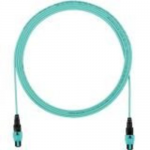 QuickNet PanMPO Round Interconnect Cable Assemblies - Network cable - PanMPO multi-mode (F) to PanMPO multi-mode (F) - 17 m - fiber optic - 50 / 125 micron - OM4 - halogen-free indoor round - aqua