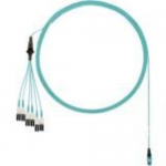 Network cable - PanMPO multi-mode (M) to LC multi-mode (M) uniboot staggered pairs 1 and 2 longest breakouts - 0.914 m - fiber optic - 50 / 125 micron - OM4 - indoor plenum round - aqua