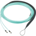 QuickNet Trunk Cable Assembly - Trunk cable - MPO multi-mode (F) to MPO multi-mode (F) - 51.8 m - fiber optic - 50 / 125 micron - OM4 - indoor plenum - aqua