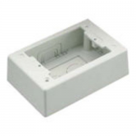Pan-Way Power Rated Surface Mount Outlet Box - Surface mount box - off white