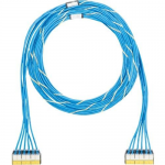 QuickNet Pre-Terminated Cable Assembly - Network cable - RJ-45 (F) to RJ-45 (F) - 25 ft - UTP - CAT 6 - plenum - blue