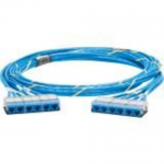 QuickNet Cable Assembly - Network cable - RJ-45 (F) to RJ-45 (F) - 50 ft - UTP - CAT 6a - IEEE 802.3an - riser - blue