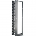 Panduit 2 Post Rack and Vertical Manager Combination Pack - Rack - black - 45U - 19 inch