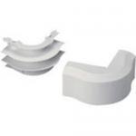Pan-Way T-45 Surface Raceway Fitting - Cable raceway outside corner - electric ivory
