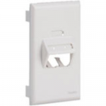 MINI-COM Ultimate ID Sloped Snap-on Faceplate - Faceplate - off white