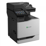 CX825de - Multifunction printer - color - laser - Legal (8.5 in x 14 in) /A4 (8.25 in x 11.7 in) (original) - A4/Legal (media) - up to 55 ppm (copying) - up to 55 ppm (printing) - 650 sheets - 33.6 Kbps - USB 2.0 Gigabit LAN USB host
