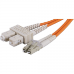 1-Meter LC to SC Multimode Fiber Duplex Patch Cord - Fiber Optic for Network Device - Patch Cable - 3.28 ft - 2 x LC/PC Male Network - 2 x SC/PC Male Network - Orange
