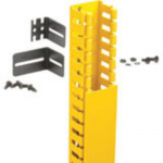 FiberRunner 2x2 Hinged Duct Vertical Cable Manager Kit - Cable management kit - yellow