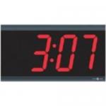 TimeTrax Sync 4in x 4 Digit Red LED Power over Ethernet Digital Wall Clock - Digital