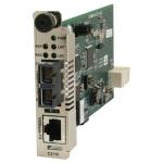 C2110 Series - Fiber media converter - 100Mb LAN - 100Base-FX 100Base-TX - RJ-45 / ST multi-mode - up to 1.2 miles - 1300 nm