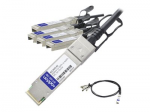 40GBase direct attach cable - SFP+ to QSFP+ - 3.3 ft - twinaxial - passive - TAA Compliant - for Dell Networking N4032 N4032F N4064 N4064F