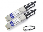 1m Brocade Compatible QSFP+ DAC - Direct attach cable - QSFP+ to QSFP+ - 3.3 ft - twinaxial - for Brocade ICX 6610-24 6610-48 6650-32 6650-40 6650-48 6650-56 6650-80