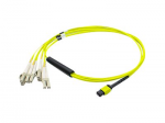 Fiber Optic Duplex Patch Network Cable - Fiber Optic for Network Device Patch Panel Media Converter Router Hub Switch - 32.81 ft - MPO - 8 x LC - Yellow