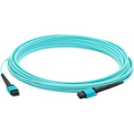 Fiber Optic Duplex Patch Network Cable - Fiber Optic for Network Device Patch Panel Router Media Converter Switch - 9.84 ft - 1 x MPO Male Network - 1 x MPO Male Network - Aqua