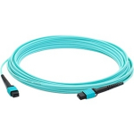 Fiber Optic Duplex Patch Network Cable - Fiber Optic for Network Device Patch Panel Router Media Converter Switch - 164.04 ft - 1 x MPO Female Network - 1 x MPO Female Network - Aqua