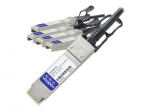 40GBase direct attach cable - TAA Compliant - SFP+ to QSFP+ - 16.4 ft - twinaxial - passive