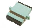 Female SC/ to Female SC/ MMF OM3 Duplex Fiber Optic Adapter - 2 x SC Female Network - 2 x SC Female Network