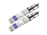 40GBase direct attach cable - QSFP+ to QSFP+ - 3.3 ft - twinaxial - passive - TAA Compliant - for Dell EMC Networking S4048 EMC PowerEdge C6420 R430 R440 R540 R740 R940
