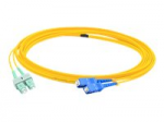 Patch cable - SC single-mode (M) to SC/APC single-mode (M) - 5 m - fiber optic - 9 / 125 micron - OS1 - halogen-free molded plenum - yellow