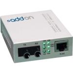 100Mbs 1 RJ-45 to 1 ST Media Converter - Fiber media converter - 100Mb LAN - 100Base-TX 100Base-LX - RJ-45 / ST single-mode - up to 12.4 miles - 1310 nm