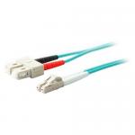 10m Laser-Optimized Multi-Mode fiber (LOMM) Duplex SC/LC OM4 Aqua Patch Cable - Fiber Optic for Network Device - 10m - 2 x LC Male Network - 2 x SC Male Network - Aqua