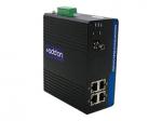 100Mbs 4 RJ-45 to 1 ST Industrial Media Converter - Fiber media converter - Fast Ethernet - 10Base-T 100Base-TX 100Base-BX-D - RJ-45 / ST single-mode - up to 12.4 miles - 1550 (TX) / 1310 (RX) nm