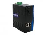 100Mbs 2 RJ-45 to 1 SC Industrial Media Converter - Fiber media converter - Fast Ethernet - 10Base-T 100Base-TX 100Base-BX-U - RJ-45 / SC single-mode - up to 12.4 miles - 1310 (TX) / 1550 (RX) nm
