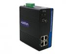 100Mbs 4 RJ-45 to 1 ST Industrial Media Converter - Fiber media converter - Fast Ethernet - 10Base-T 100Base-TX 100Base-BX-U - RJ-45 / ST single-mode - up to 12.4 miles - 1310 (TX) / 1550 (RX) nm
