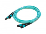 15m MPO OM4 Aqua Patch Cable - Patch cable - MPO multi-mode (F) to MPO multi-mode (F) - 49 ft - fiber optic - 50 / 125 micron - OM4 - halogen-free - aqua
