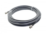 32.81ft BNC Coaxial Black Patch Cable - Video cable - BNC (M) to BNC (M) - 33 ft - coaxial - black