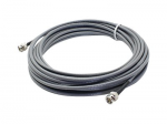 16.4ft BNC Coaxial Black Patch Cable - Network cable - BNC (M) to BNC (M) - 16.4 ft - coaxial - black
